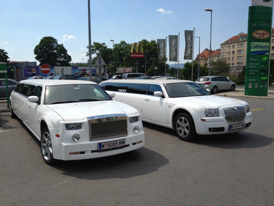 Stretchlimousine mieten Wien, Limousine, Hochzeit